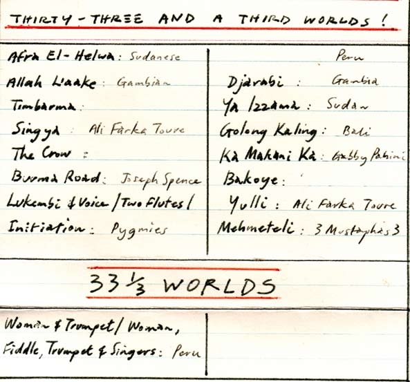 Mick Geyer compilation tape, '33 1/3 Worlds'