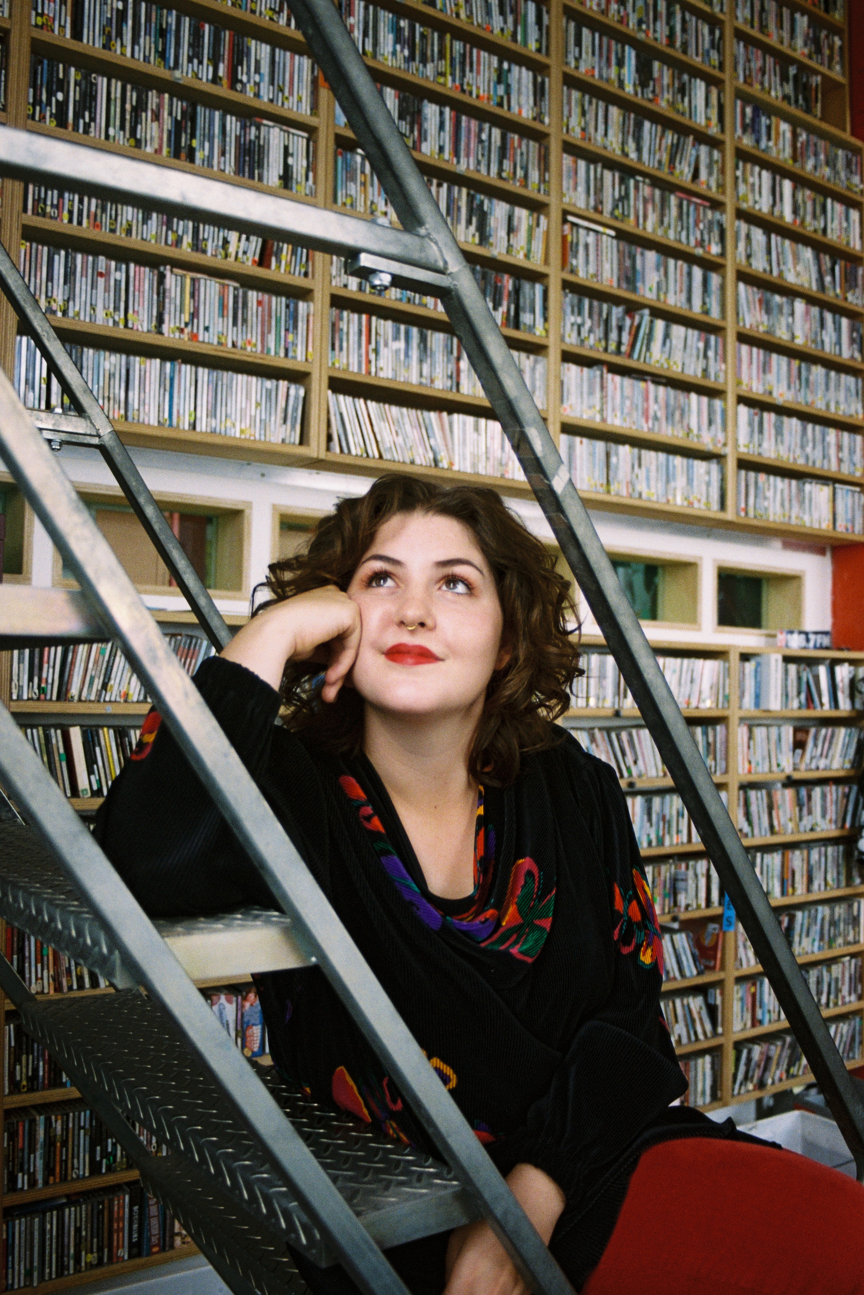 Ella in the PBS Music Library. Photo by Phoebe Veldhuizen
