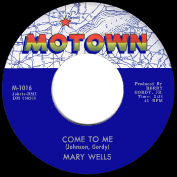 Motown Records: Mary Wells - Come To Me