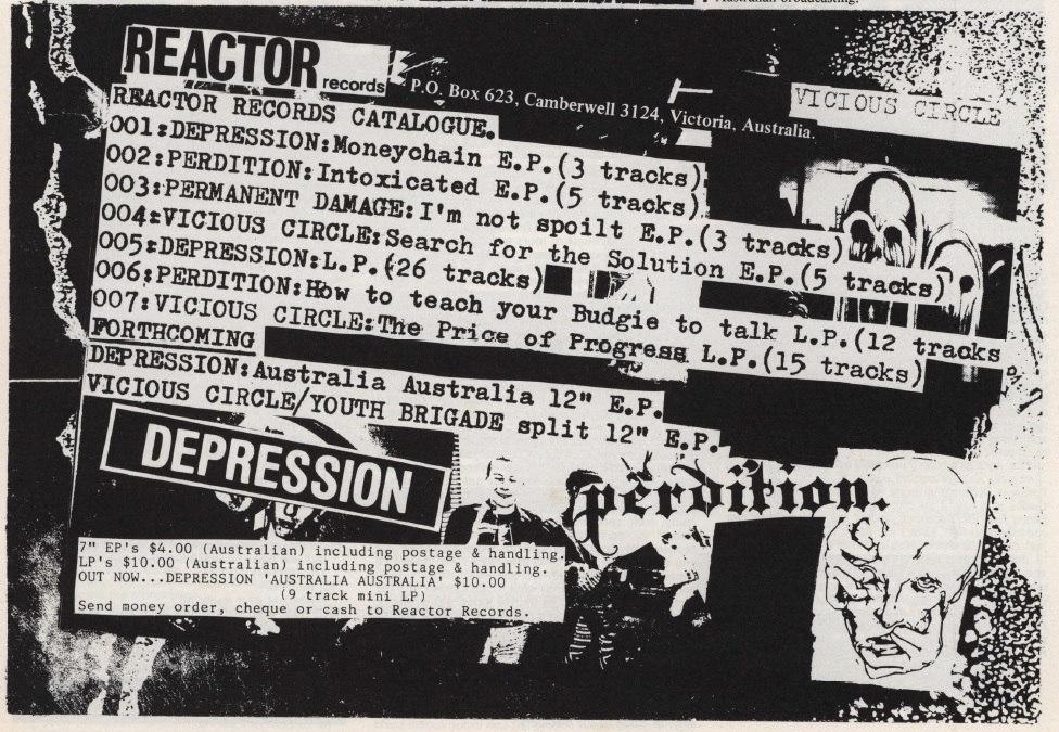 Phil MacDougall Reactor Records ad