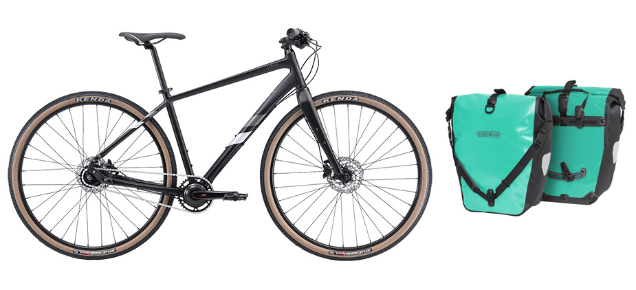 Avanti INC 1 bicycle, Ortlieb pannier bag and rack from My Ride Collingwood