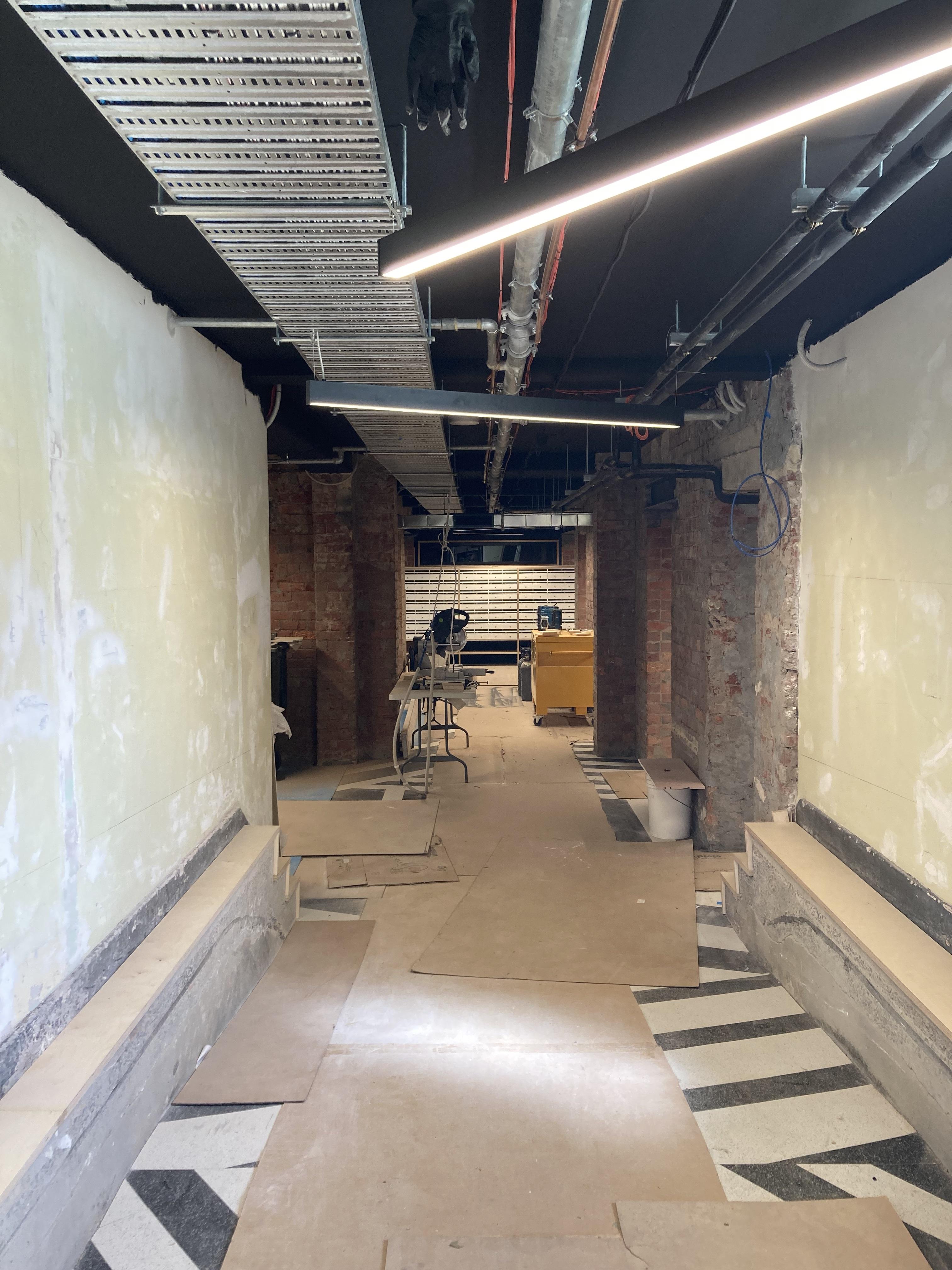 PBS corridor to studios