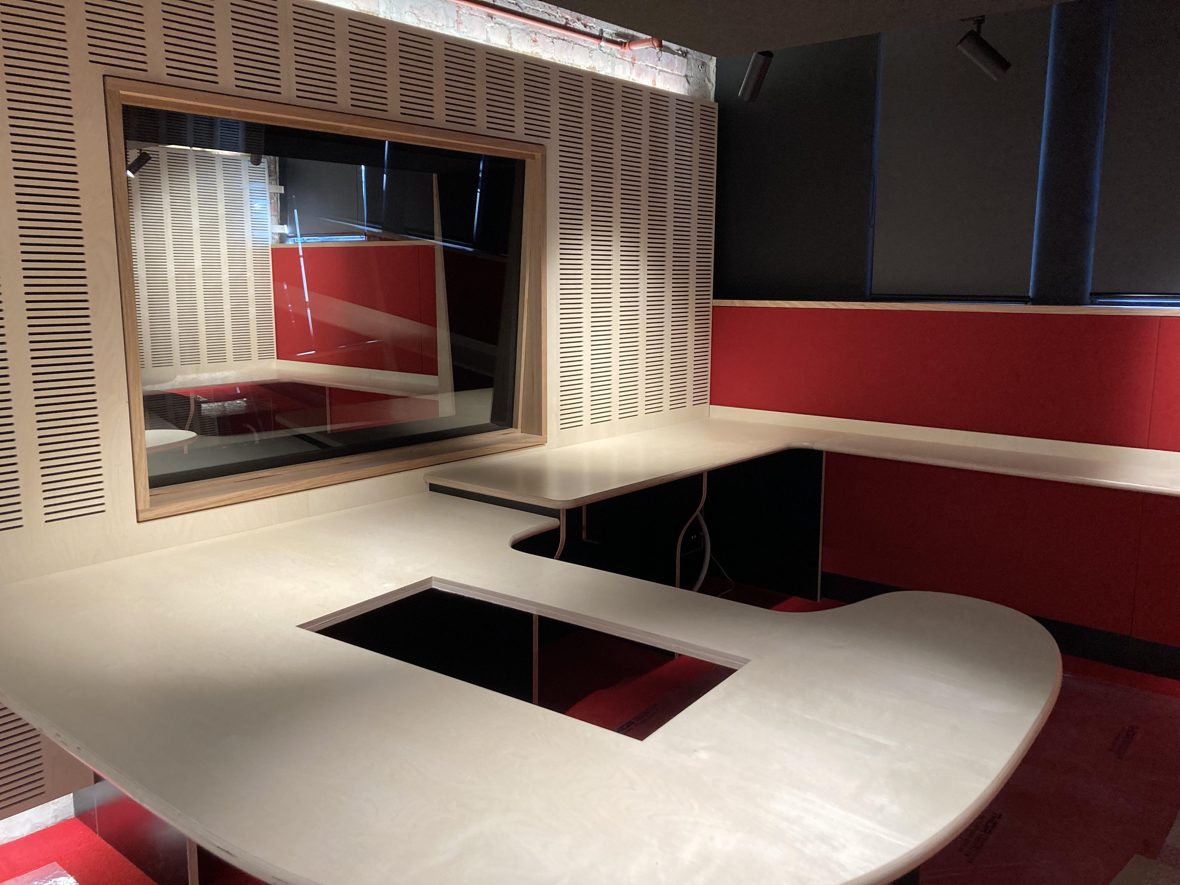 PBS studio build in progress