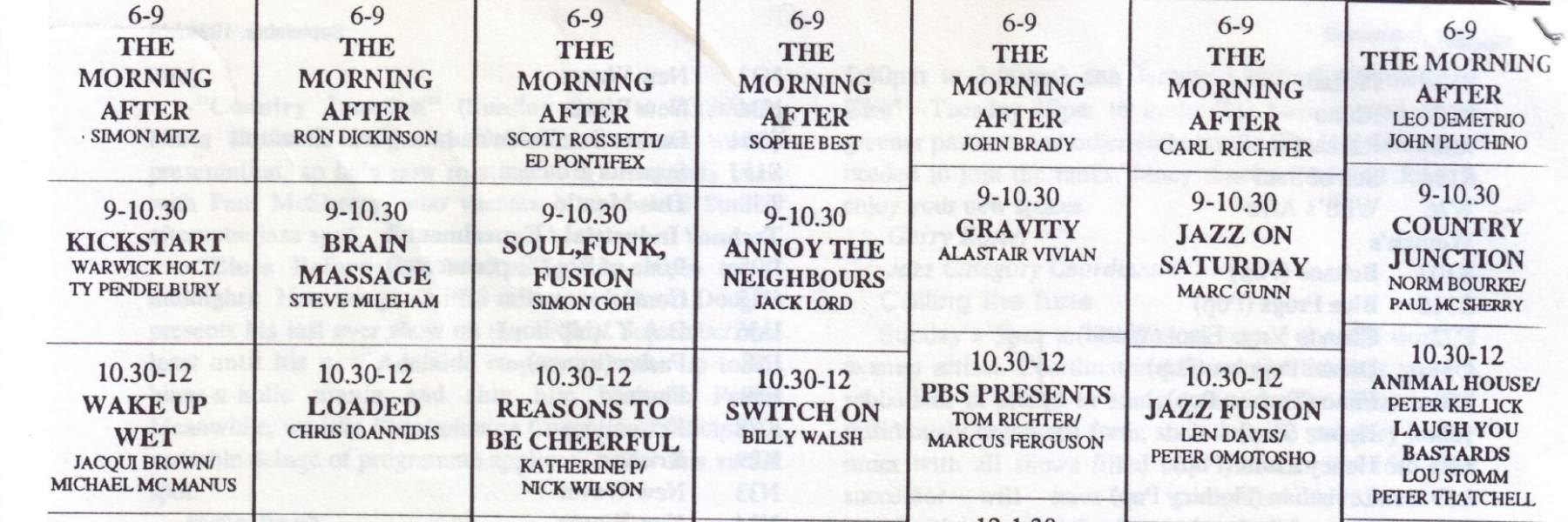PBS grid 1994