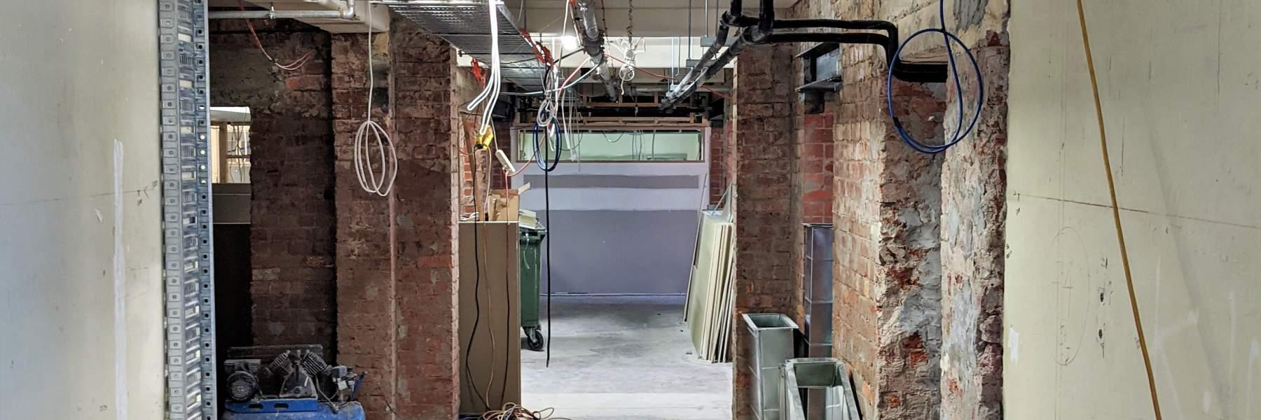 Studio Corridor - build in progress