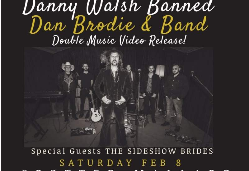 Poster for Dan Brodie Banned and Danny Walsh's upcoming show