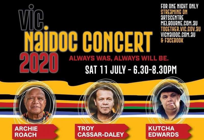 Vic NAIDOC Concert Poster 2020