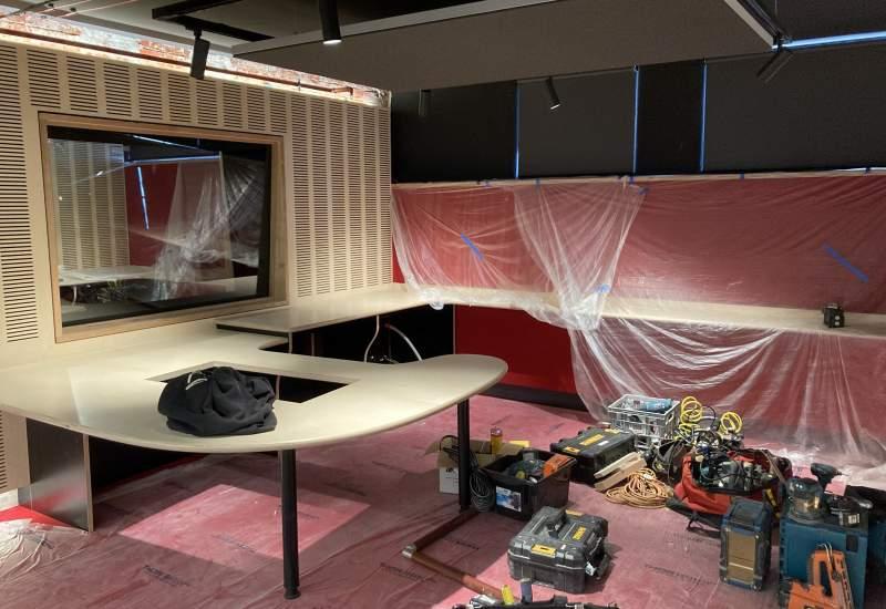 Studio build in progress